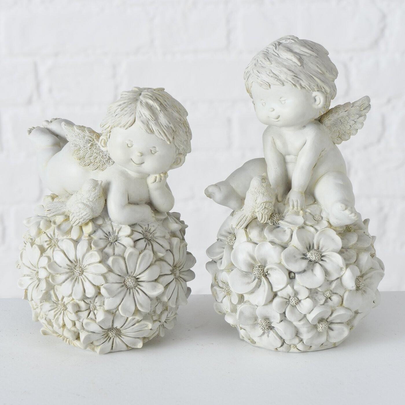 Set 2 engeltjes op bloemenbal