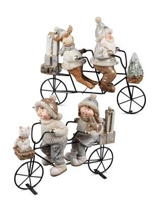 Eland & kerstman op fiets (boven)