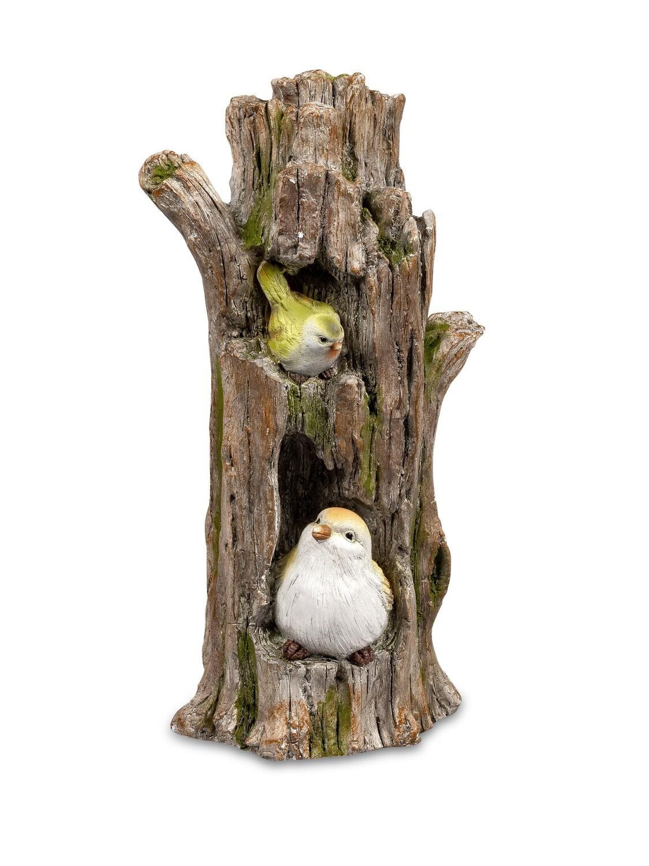 Vogeltjes in boomstam