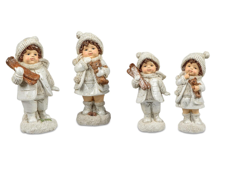 Set 2 winterkindjes 13 cm (rechts)