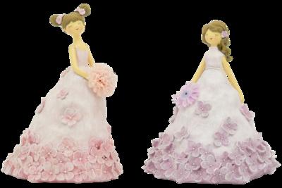 Bloemenmeisje roze klein (links)