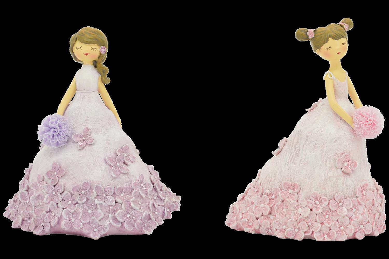 Bloemenmeisje roze groot (rechts)