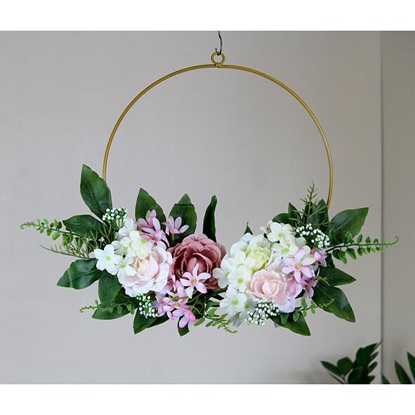Kunst bloemenkrans om te hangen