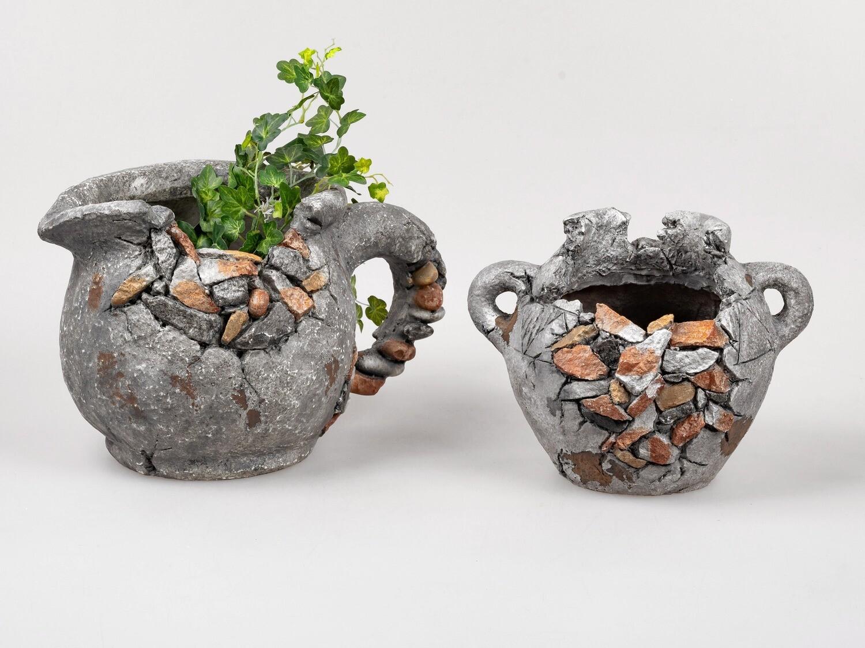 Planter Antiek Grijs (links)