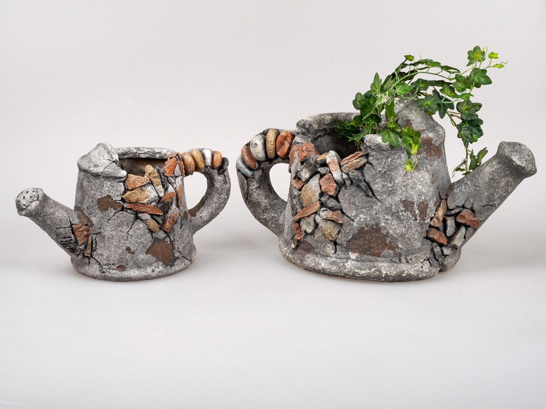 Planter Gieter Groot Antiek Grijs (rechts)