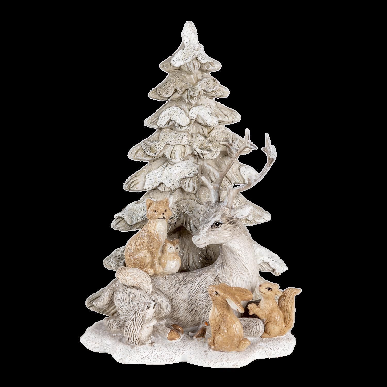 Dieren bij kerstboom