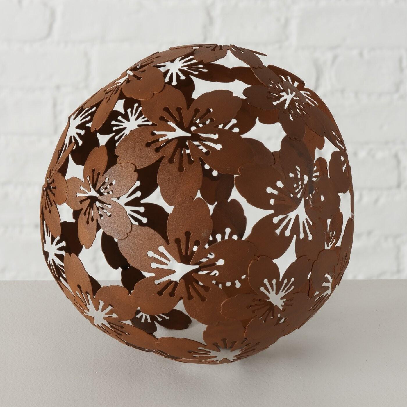 Deco bal roest Bloem Klein