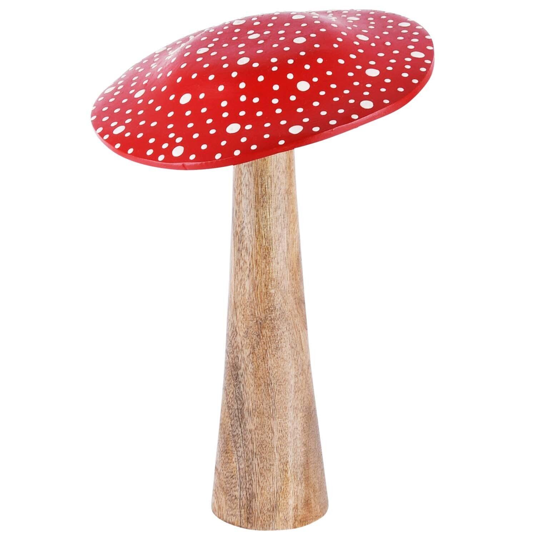 Paddenstoel wit/rood groot