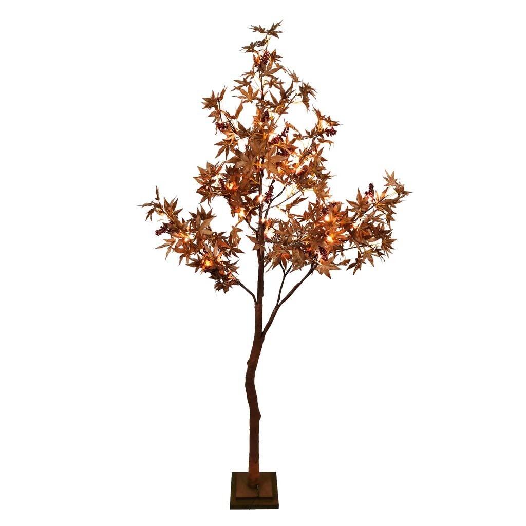 Decoratieboom 'Fall Fest' bruin 54 LED 180 cm