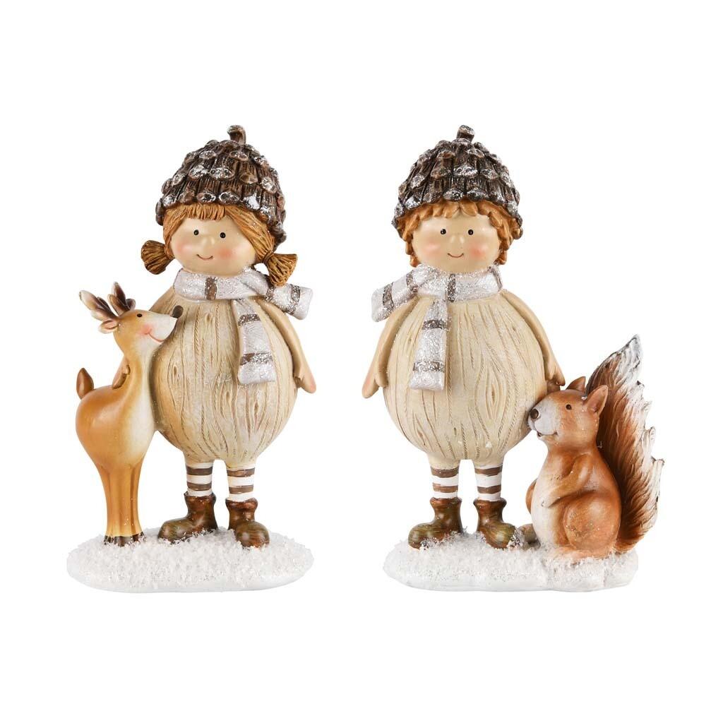 Set Kindjes met rendier/eekhoorn klein