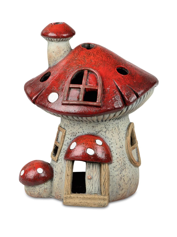 Huis paddenstoel theelichthouder Groot