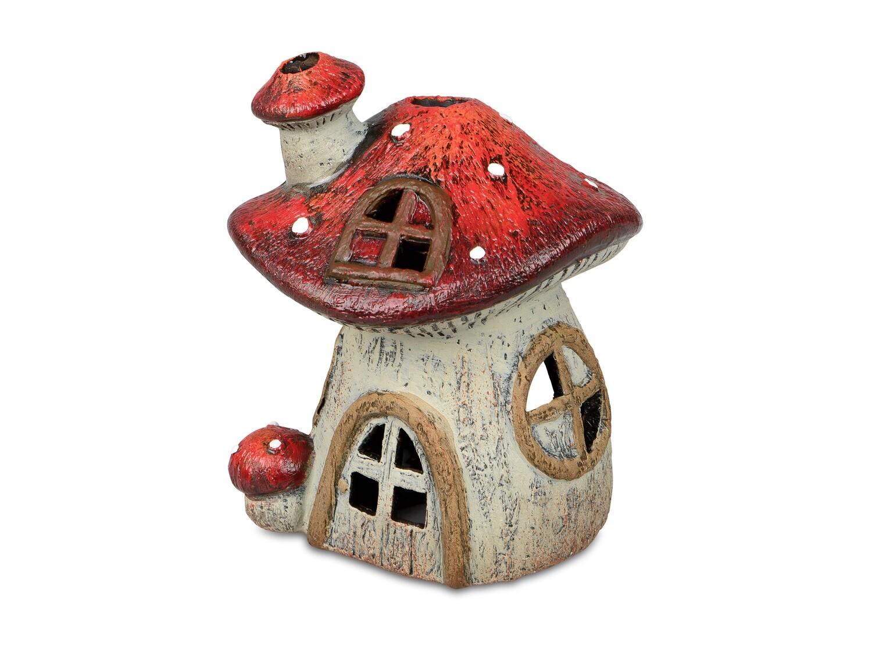 Huis paddenstoel theelichthouder Klein