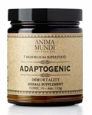 ADAPTOGENIC IMMORTALITY : ORGANIC 7 MUSHROOMS + HEIRLOOM CACAO by Anima Mundi
