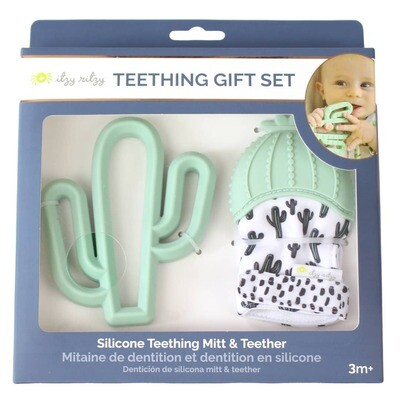 CACTUS TEETHING MITT AND TEETHER GIFT