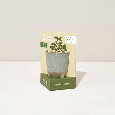 GLOW & GROW CANDLE/BASIL KIT