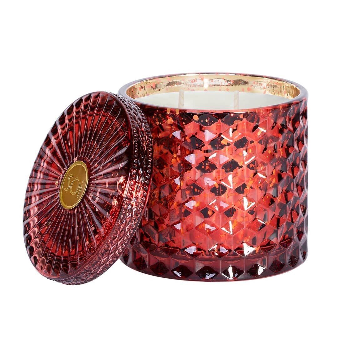 HOLIDAY SPICE SHIMMER CANDLE- DOUBLE WICK