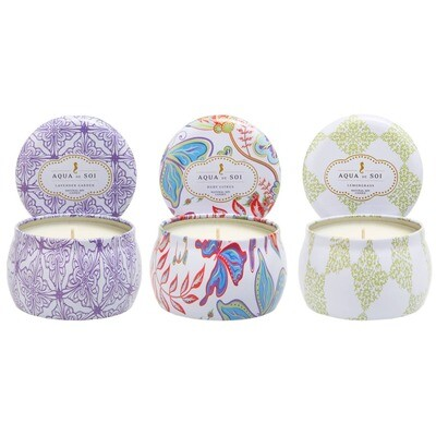 CLASSIC TRAVEL TIN SOY CANDLE TRIO SET