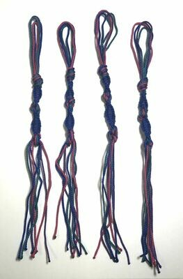 TZITZIT- Purple/Magenta/Blue/Teal Micro Paracord