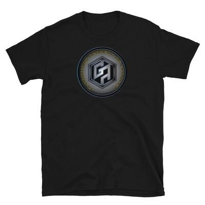 Futuristic Gladiators Logo Short-Sleeve T-Shirt