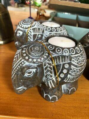 African Elephant Tea Light Holders