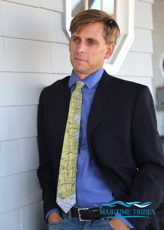 Custom Cape May Map Tie