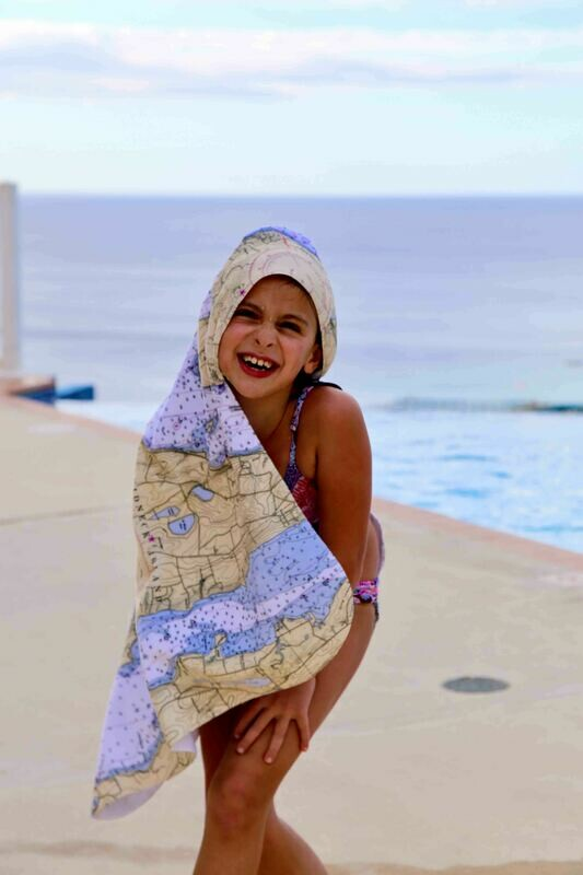 Hooded Toddler Towels Custom Cape May Map