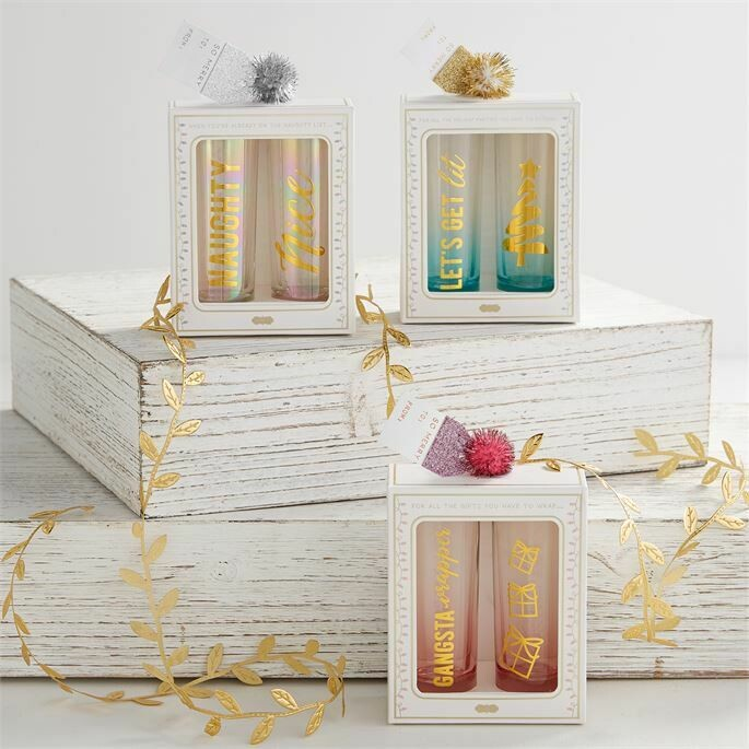 Holiday Shot Glass Set by Mud Pie