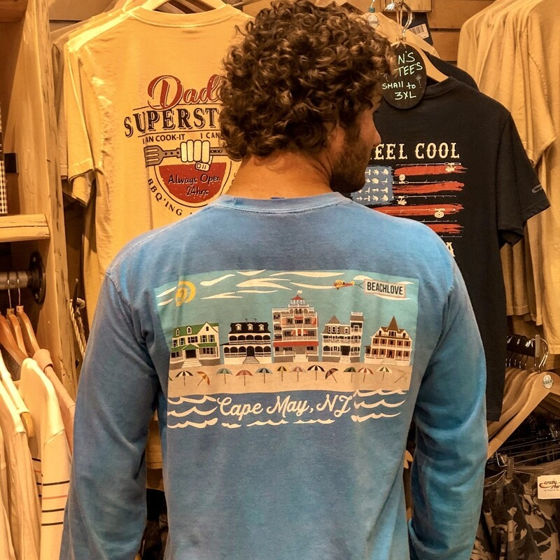 Unisex Cape May Long Sleeve Crew by Crazy Shirts