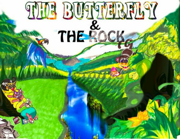 THE BUTTER FLY AND THE ROCK