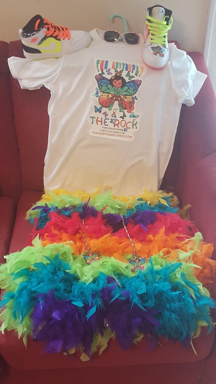 "CUSTOM ""BOA"" Little girls Tutu in various colors besides rainbow."