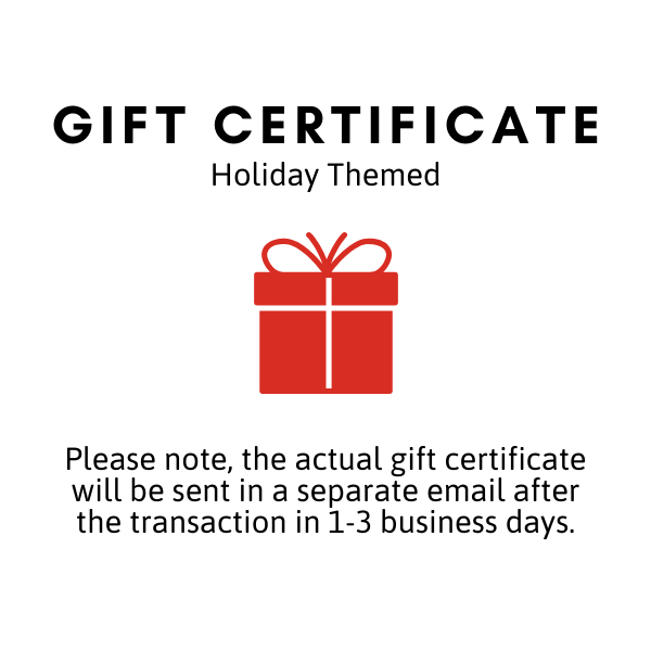Gift Certificate - Holiday