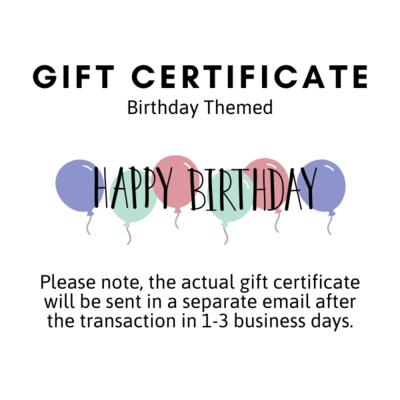 Gift Certificate - Birthday