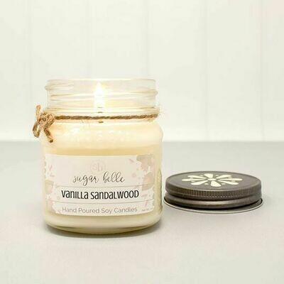 Soy Candle 8 oz. - Vanilla Sandalwood