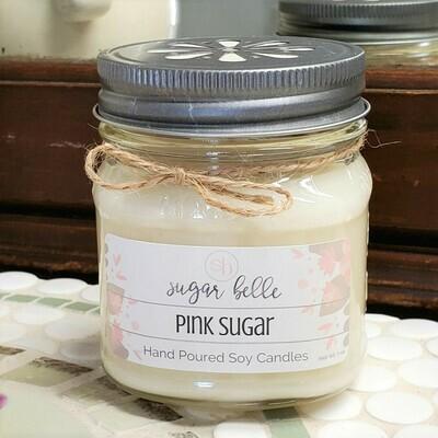 Soy Candle 8 oz. - Pink Sugar