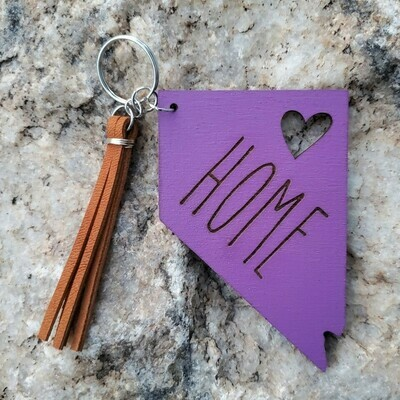 Keychain - Nevada Home (purple)