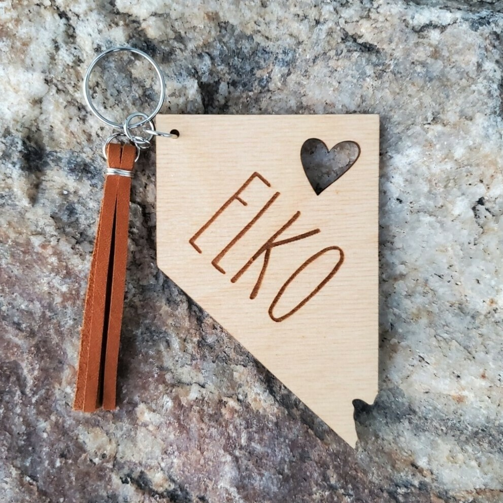 Keychain - Nevada Elko (natural)