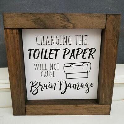 Wall Art - Changing Toilet Paper (walnut)