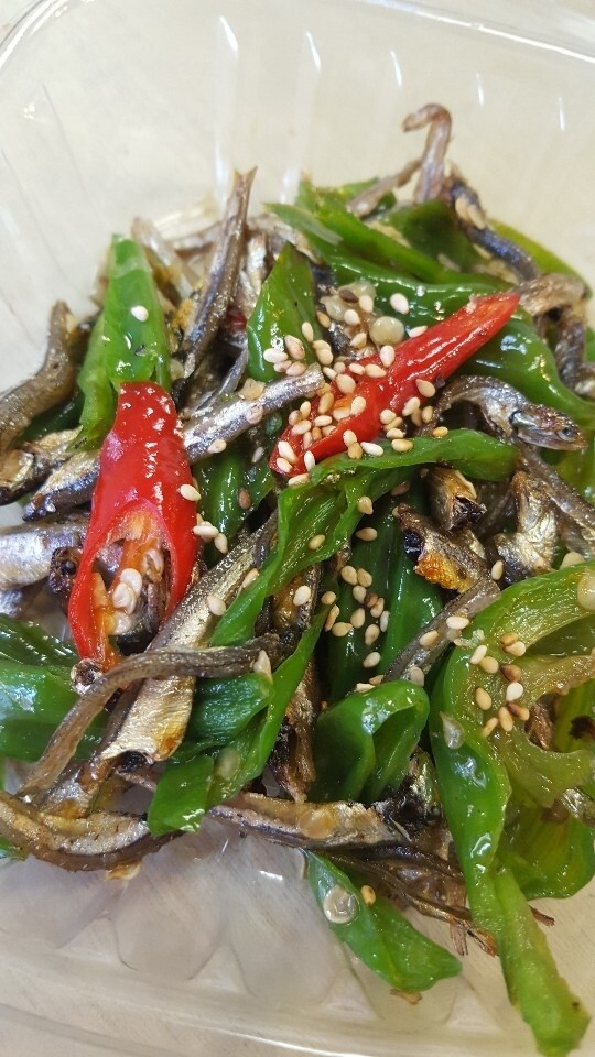 꽈리고추 멸치볶음 Stir - Green Pepper and Anchovies