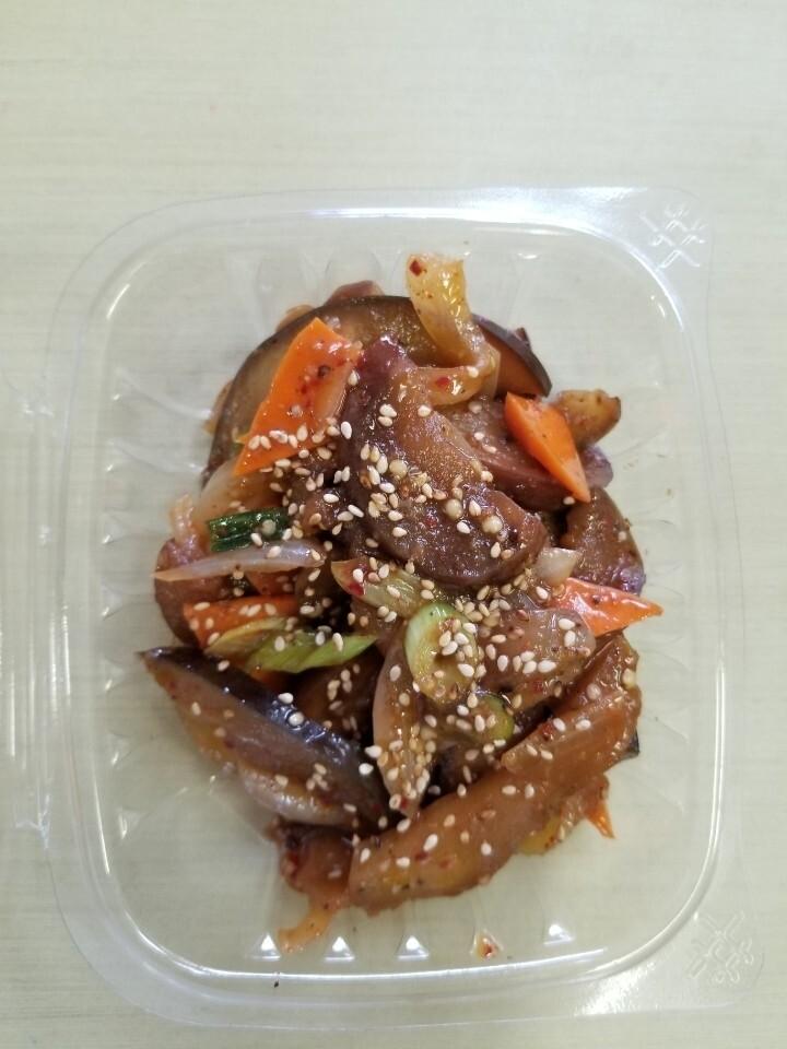 가지볶음 Stir fried Eggplant