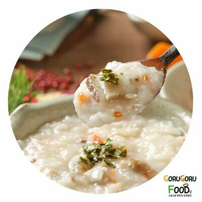 전복죽 (L) Abalone rice porridge