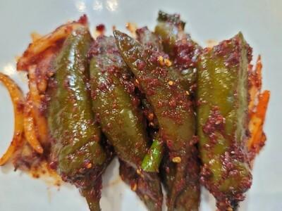 삭힌고추 무침 Fermented Pickled Chili Pepper (spicy)