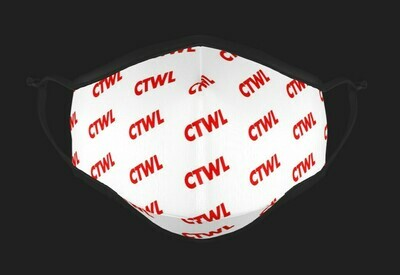 "CTWL ""Abbreviation"" Mask - White/Red"