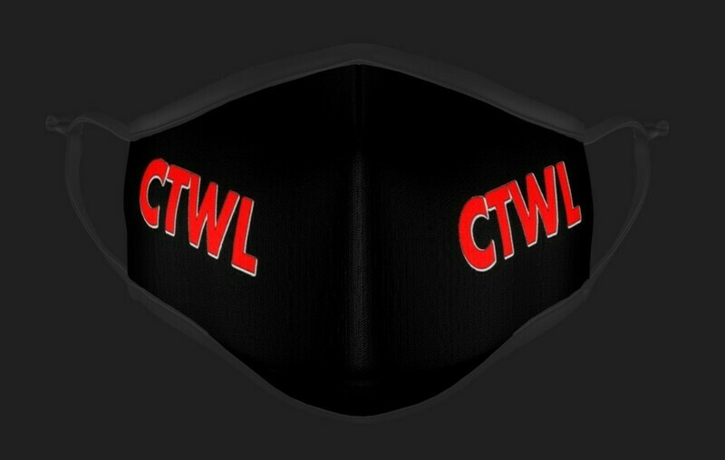 "CTWL ""Brand"" Mask - Black/Red"