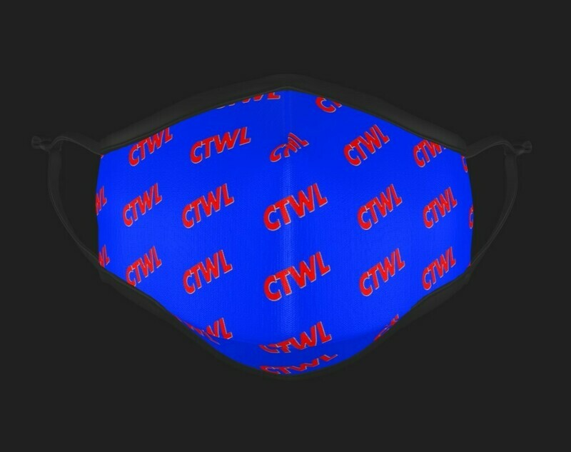 "CTWL ""Abbreviation"" Mask - Blue/Red"