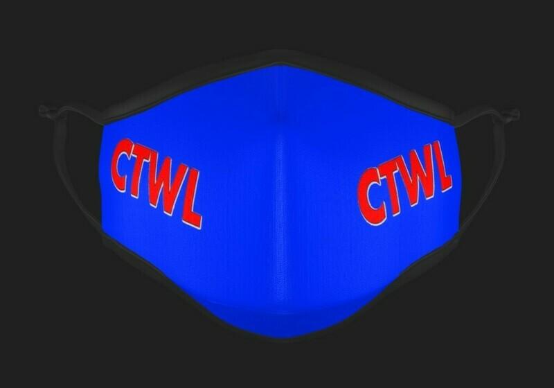"CTWL ""Brand"" Mask - Blue/Red"