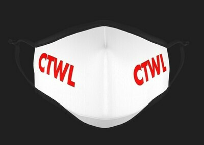 "CTWL ""Brand"" Mask - White/Red"