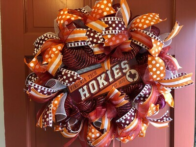 Hokie Wreath