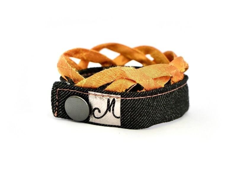 Bracelet Wrist Orange Vagues