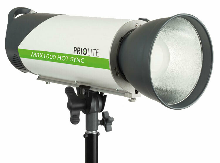 Priolite MBX 1000 Ws Hot Sync High Speed-Akku Blitz