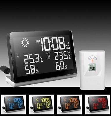 Barometrische Wetterstation mit Innen/Aussen Thermo/Hygrometer